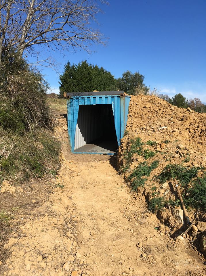 Avancement de la vieille mine